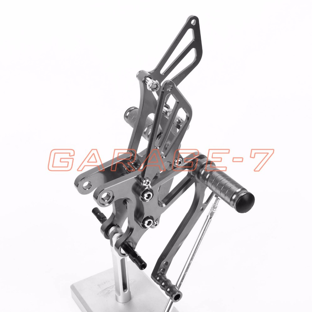 For KAWASAKI ZX6R Hayabusa 2005-2008 Rearsets Foot Rests Rear Set Motorcycle Titanium CNC Foot Pegs 6061 Aluminum Alloy Hot Sale