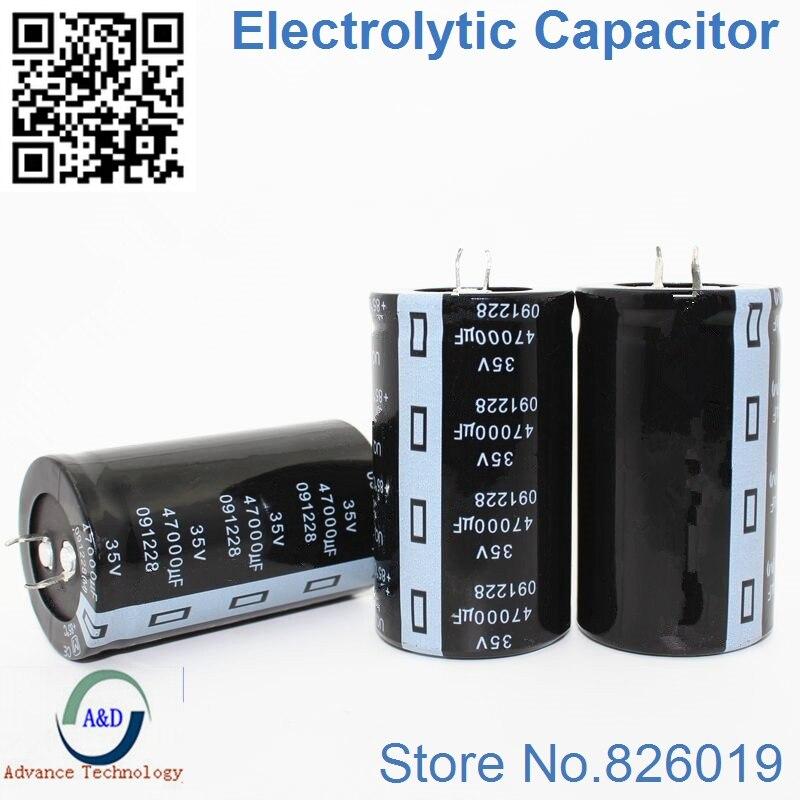 1 pcs/lot 35 v 47000 uf Radiale Condensateurs Électrolytiques En Aluminium DIP taille 35*60 47000 uf 35 v Tolérance 20%