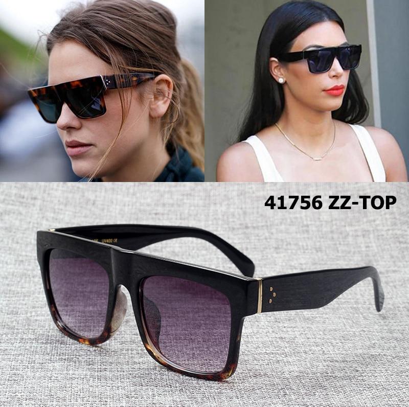 JackJad Fashion 41756 ZZ-TOP Kardashian Style Sluneční brýle Dámské Značka Design Vintage Square Sluneční brýle Oculos De Sol Feminino