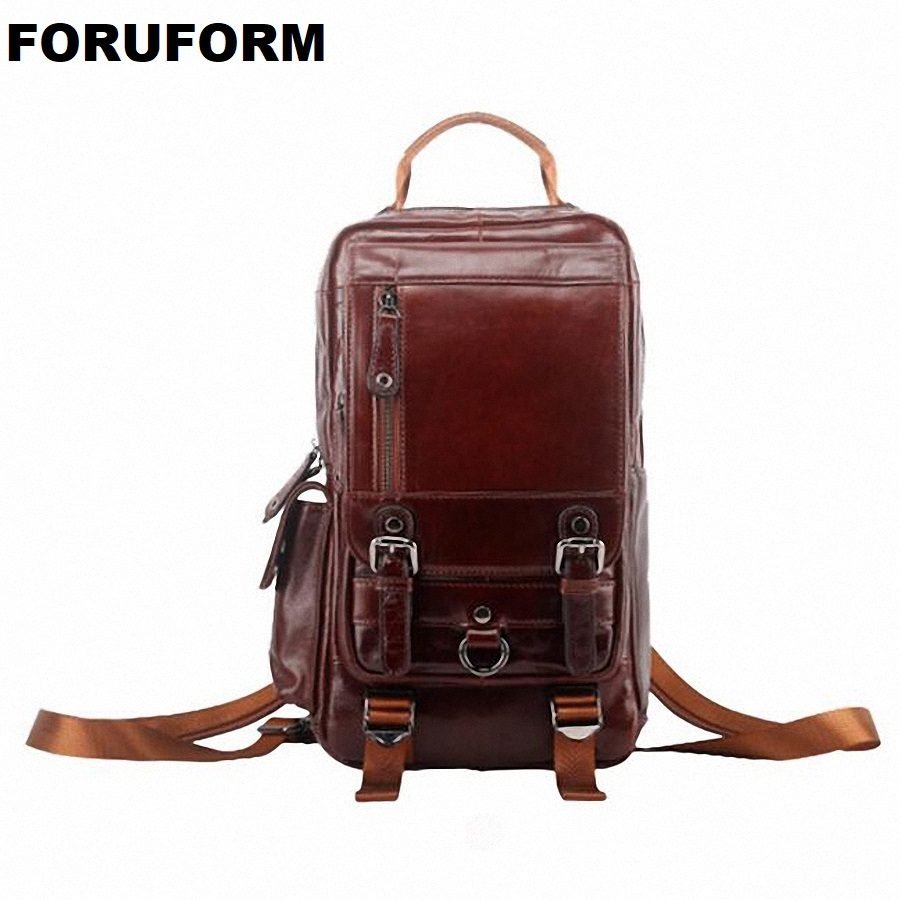 High Quality Genuine Leather Backpack Fashion Men Travel Bags School Bag Brand Design Fashion Leather Backpacks LI-1739 tutu baby solid white bridesmaid flower girl wedding dress tailed tulle fluffy ball gown birthday evening party dress
