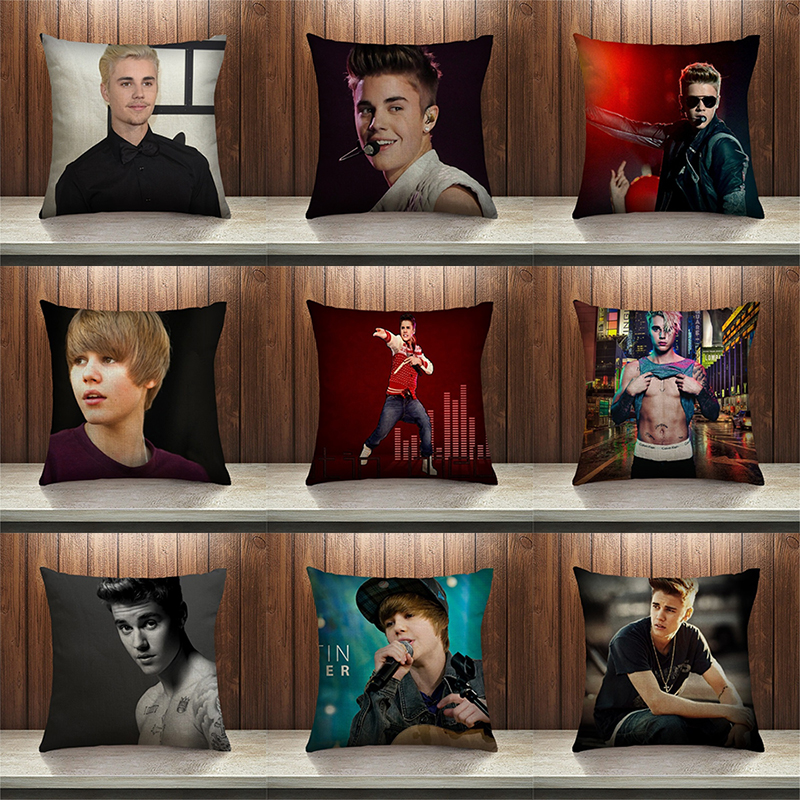 decorUhome Super Justin Bieber Pillow Case Sofa Bedroom Home Decorative Throw Pillow Cover Sequin Cushion Cover For Your Life