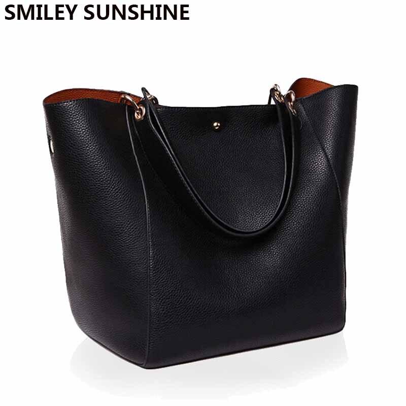 Big Women Shoulder Bag High Quality Designer Leather Handbag
