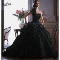 Vestido де Quinceanera Винтаж черное бальное платье Пышное Платье 2019 милые Аппликации из тюля недорогие подростковые платья