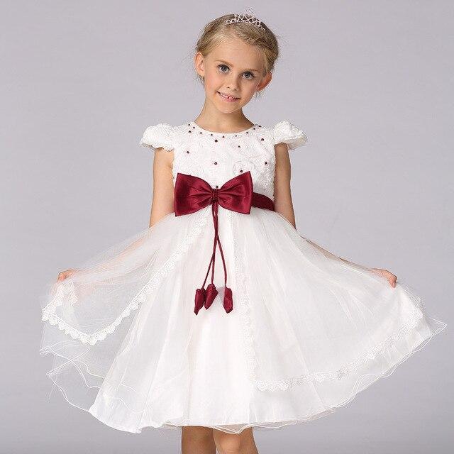0b5fb12c20e4 High Quality Baby Girl Dress 2 8 Age Flower Girls Lace Bow Princess ...