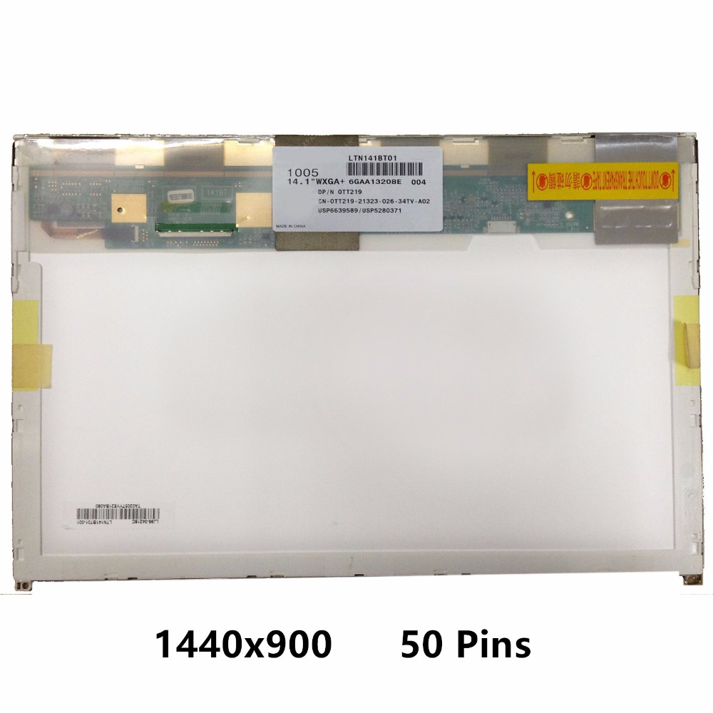 New 14.1'' LCD Screen Display Panel Matrix N141C6-L01 LTN141BT01 LP141WP2.TLA1 B141PW04 For DELL Latitude E6400 1440x900 50 Pins free shipping new 13 3 lcd led screen display slim panel matrix lp133wh2 tla2 ltn133at16 for dell latitude e6320 e6330 wxga hd