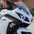 1 Conjunto Azul Personalizado Anjo Olho ESCONDEU 35 W Projector Farol Para Kawasaki Ninja 300 2013-2015 Novo