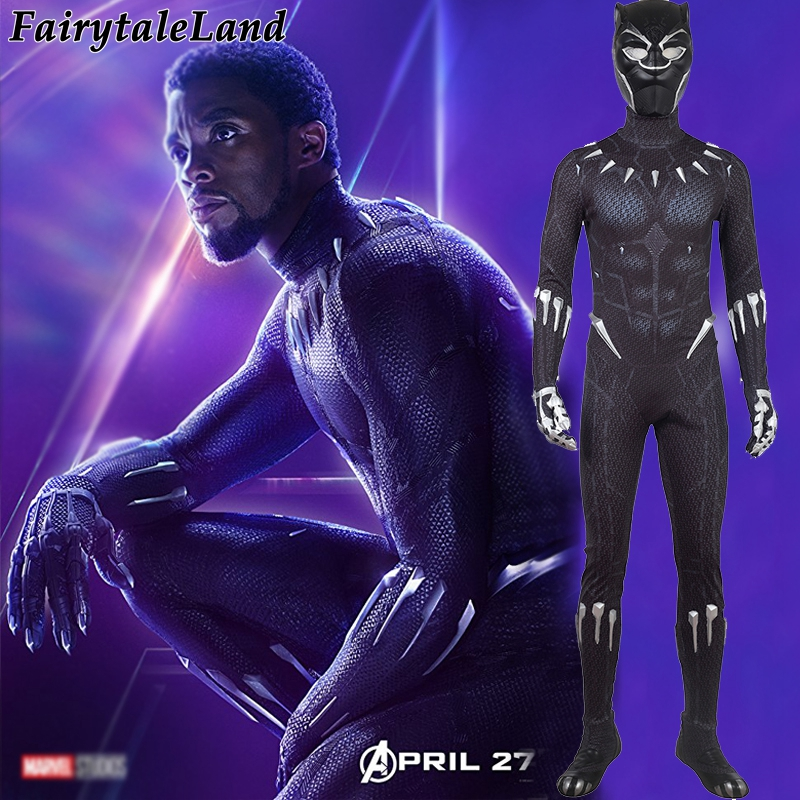 Avengers Infinity War Black Panther costume Carnival Halloween Cosplay Avengers 3 Black Panther superhero Jumpsuit Black