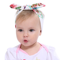 10PCS Newborn Flowers Print Floral Turban Elastic Hair Band Girls Turban Knot Headbands Children Headwear Baby