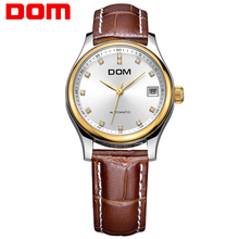 Dom Watch Wanita Elegan Fashion Wanita Jam Tangan Mekanis Jam Wanita Kasual Kulit  Wanita Jam Tangan 315533f233