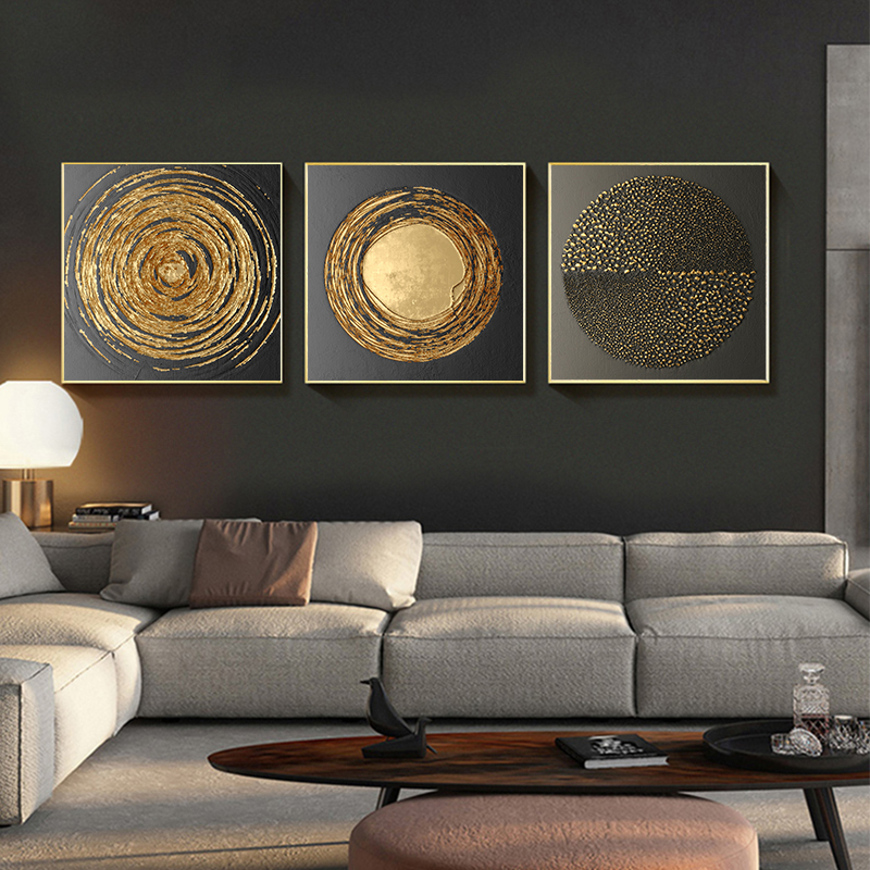 HTB1arhNcfWG3KVjSZFgq6zTspXaK Abstract Gold Black White Modern Square Texture Canvas Painting Posters And Prints Home Decor Wall Art Pictures For Living Room