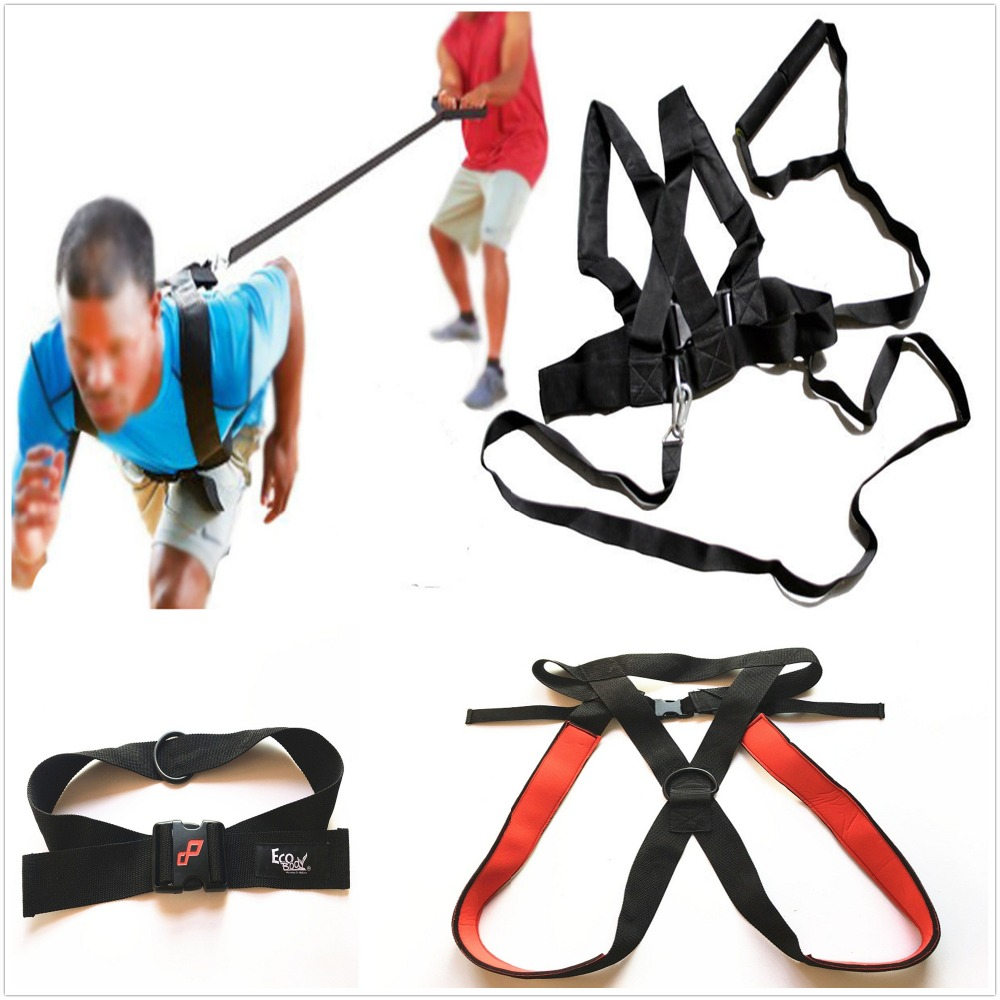 US $14 99 |Fitness Pulling Sled Harness Resistance Waist Belts Power Speed  Sprint Training-in Resistance Bands from Sports & Entertainment on