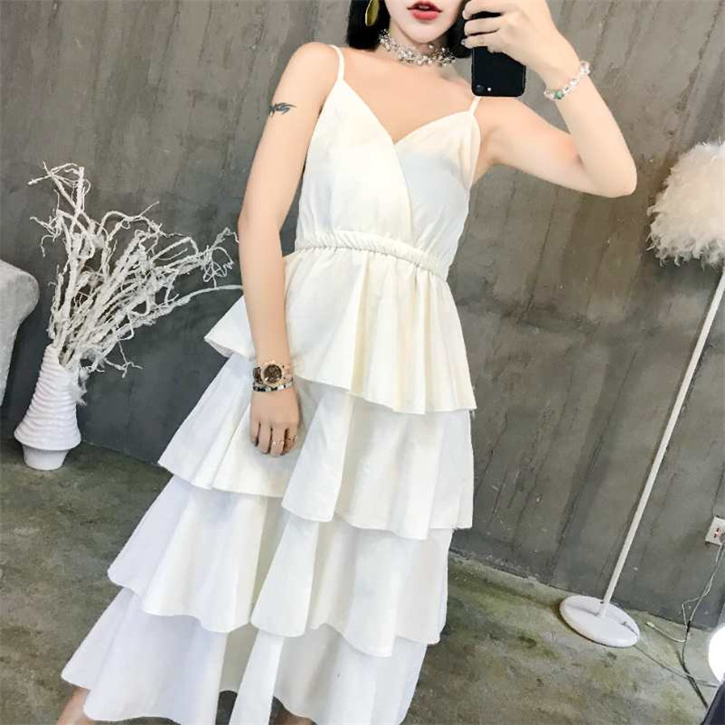 women summer new style fashion sheety cake dress for sweet girl for party Elegant lace braces dresses
