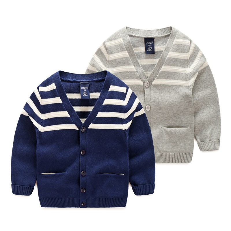 Baby Sweater For Boys Cotton Soft Baby Boys Sweater With Pockets Long Sleeve V-Neck Kids Cardigan Boys Autumn Sweater Coat 2-5T hot sale kids sweater boys sweater children autumn winter solid cotton long sleeve girls pullover o neck 50w0020