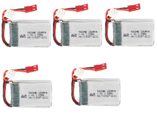 <font><b>2s</b></font> 7.4v <font><b>350mah</b></font> 35C Lipo Battery for X401H X402 JXD 515 515W 515V Battery RC Mini FPV Drone Quadcopter Helicopters 5pcs/lot image