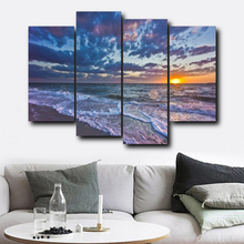 Laeacco Sea Sunrise Posters and Prints Sky Cloud Wall Artworkwork Modern Canvas Painting Living Room Bedroom Home Decor