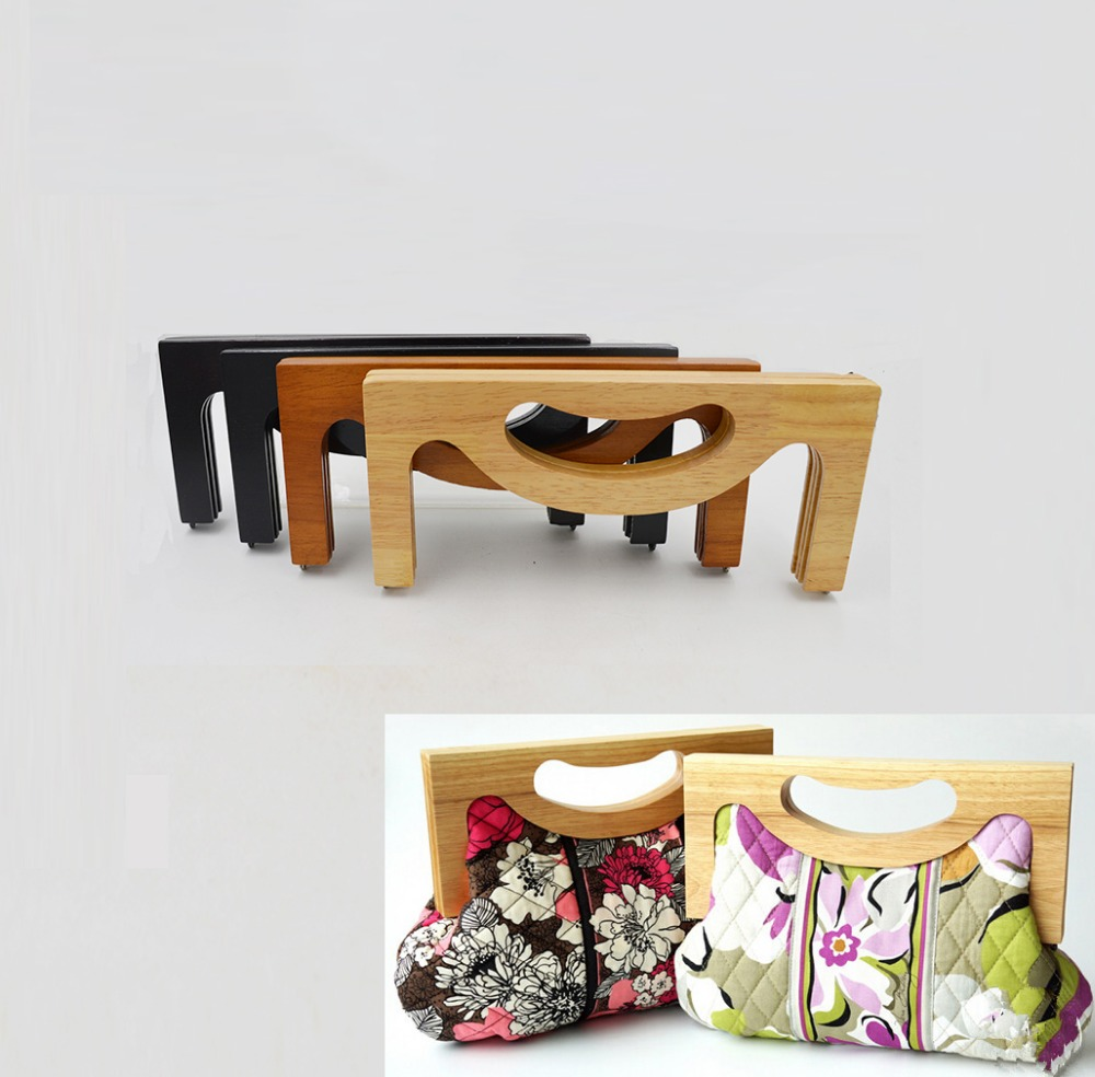 Solid Material Wooden Bag Handle Size 25*11CM Wholesale Purse Handle China Factory Aliexpress Selling Wooden Purse Frame