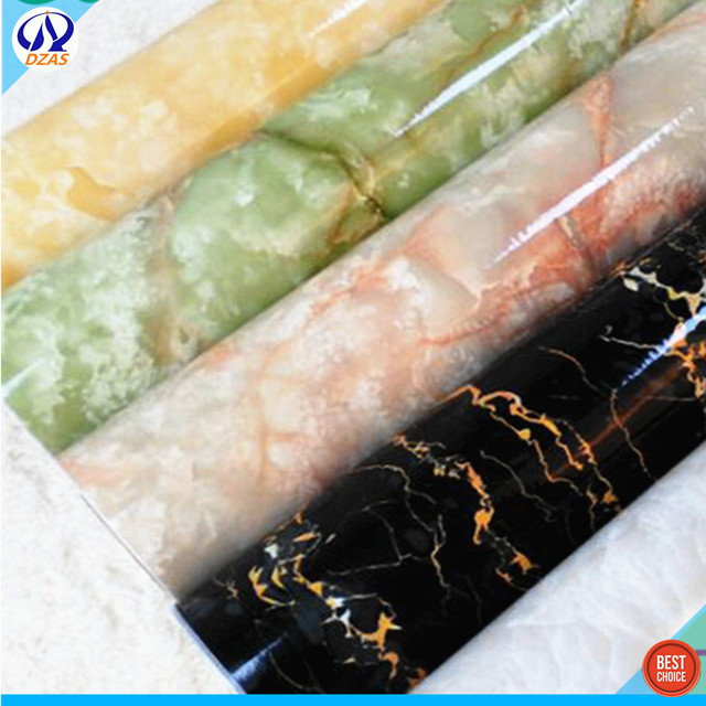 Self Adhesive PVC Imitation Marble Wallpaper Background Wall Paper Kitchen Oil Proof Table Bathroom