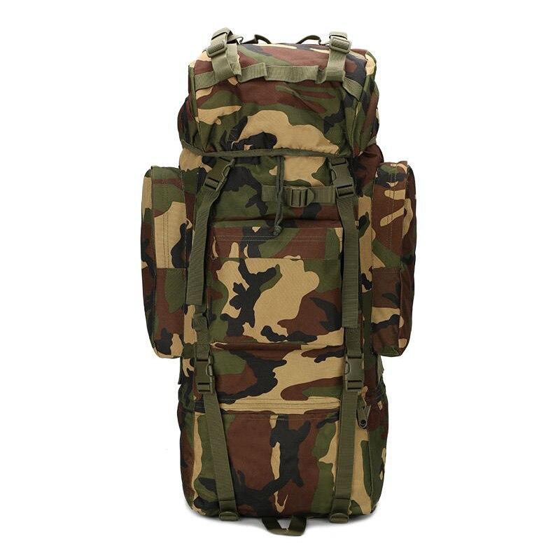 Hot-vente 65L grande capacité en plein air alpinisme sac à dos Camping sac à dos militaire étanche sac tactique réglable