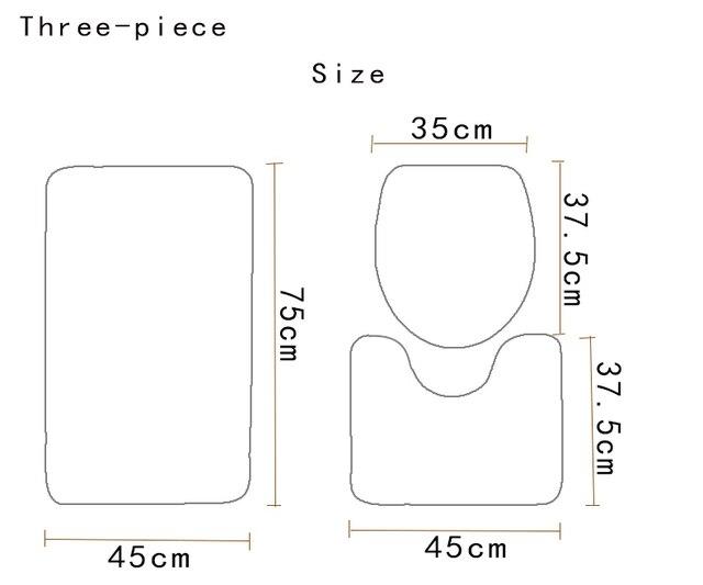 3 pz Tappetino Da Bagno Set Antiscivolo Geometrico Modello di Colore Pavimento Del Bagno Tappeto e Tappetino Wc Set