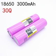 1 UNIDS 2017 nuevo importado DE s amsung INR18650 30 q bateria litio 3000 mah baterias Recargables