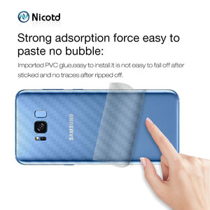 Image 5 - Back Sticker 3Pcs For Samsung Galaxy A8 A6 J6 2018 Plus Screen Protector For Samsung S9 Plus S8 Carbon Fiber On Phone Back Film