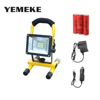 Rechargeable Portable Spotlight LED Floodlight 24led Movable Outdoor Camping Light Grassland + 3*18650 Battery + Charger