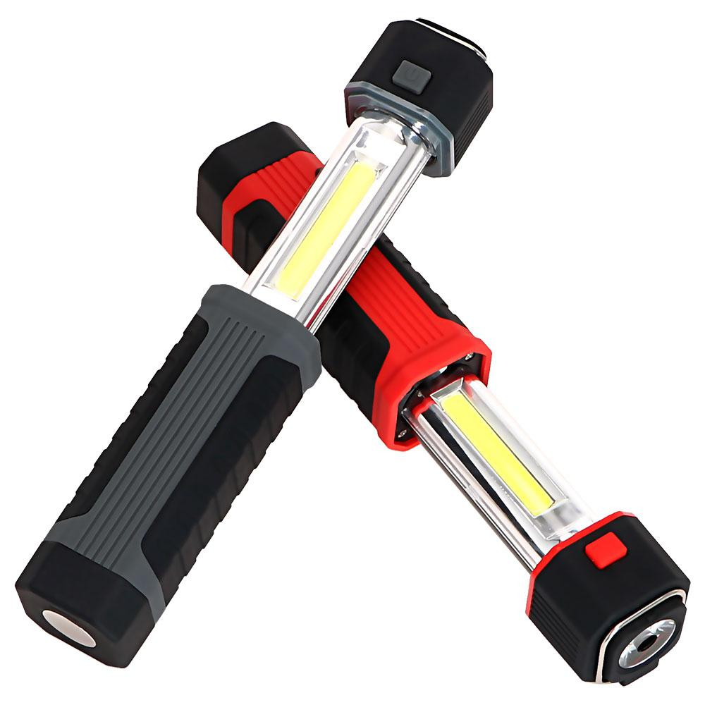 AKDSteel Stretchable LED COB Flashlight Camping Light Outdoor Torch Emergency Inspection Lamp Searchlight Flashlight