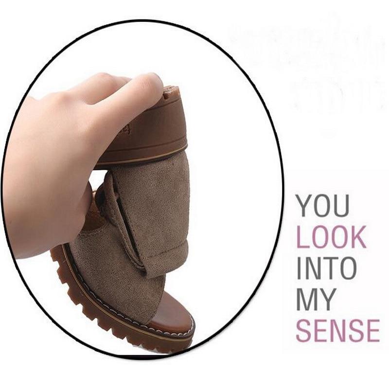 Summer flat Sandals Fish Mouth Women Sandals Flock Retro Low Heels Square Heel Woman Lace Up Shoe size 35-40 4