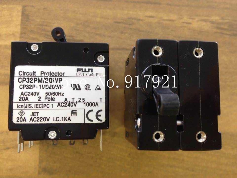[ZOB] Fuji CP32P-1M020WP 2P20A 240V breaker CP32PM/20WP genuine original equipment --5pcs/lot exit wound