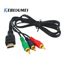 Совершенно новый 1080p HDMI-совместимый штекер к 3 RCA кабелям Видео Аудио HDMI-совместимый HDTV VGA 3 AV адаптер шнура конвертера для HDTV
