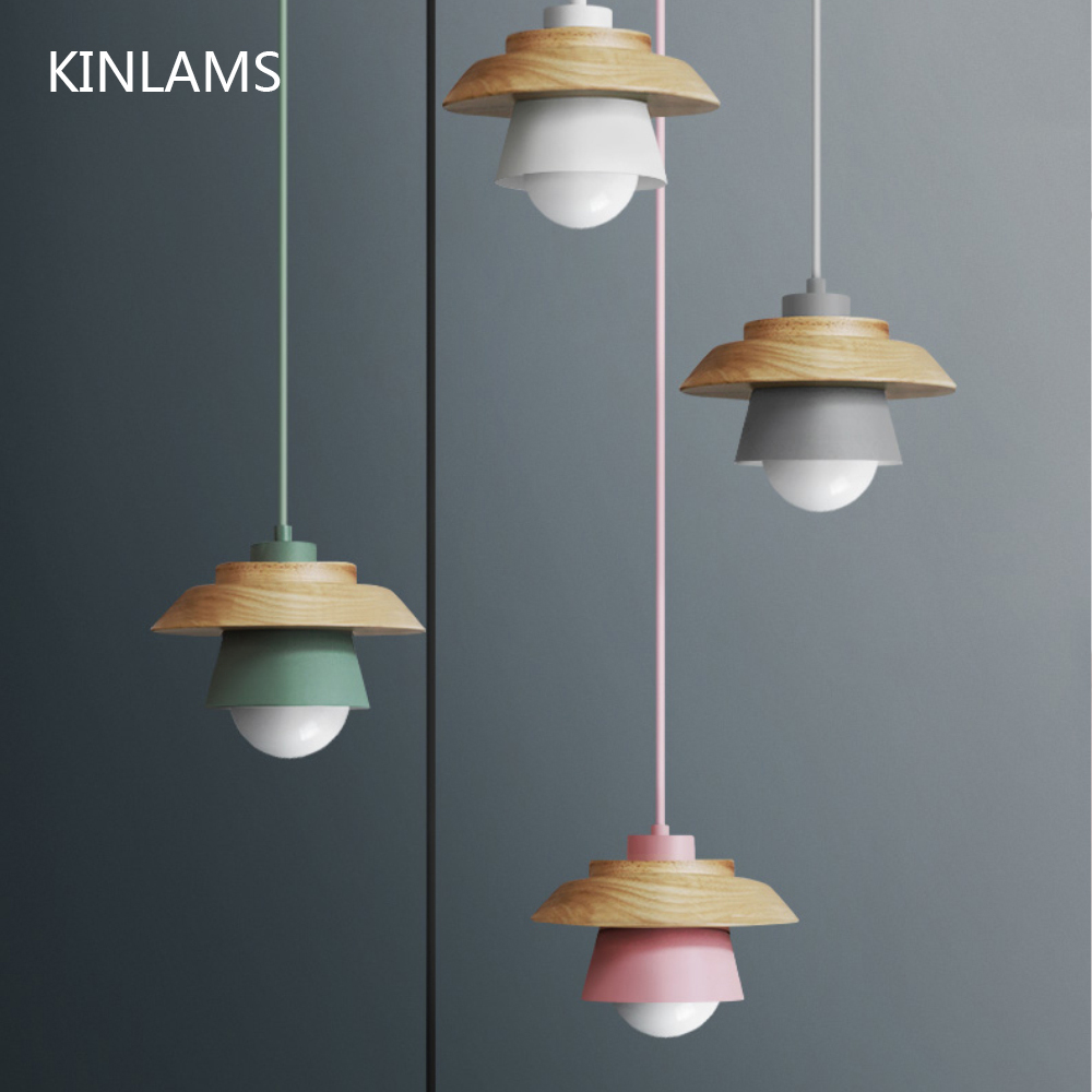 Colorful Pendant Lights Macaron Nordic Wood Pendant Lamp Lustres Art Deco Hanglamp Living Room Suspension Luminaire Lamparas nordic pendant lights glass lampshade g4 lustre led lamp art deco lamparas colgantes hanglamp suspension luminaire avize lampen