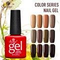 Saviland Serie Marrón Colores Esmalte de Uñas de Gel Empapa de UV de Larga Duración Led Semi Permanente 12 Brillantes Colores de Uñas Gel Lak