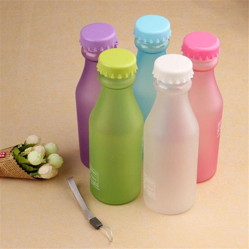 1PC Portable Leak proof Bike Sports 550ml Plastic Water Bottle drink Sport Camping Travel my plastic bicycle bottle D36JL13