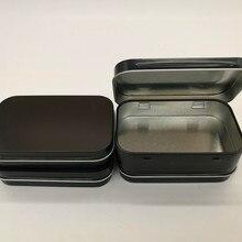 95*60*21mm black tin box black metal box