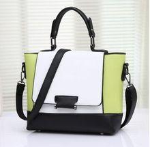 Винтаж женщин сумки случайный плечо сумка женская мода сумка женская портативный цветной блок мешочки сумки женские(China)