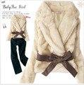Venta CALIENTE Moda de Nueva abrigo de piel, Lujo Milán Faux capa de la chaqueta de invierno chaqueta de piel de Conejo de las mujeres super suave envío libre ML9188