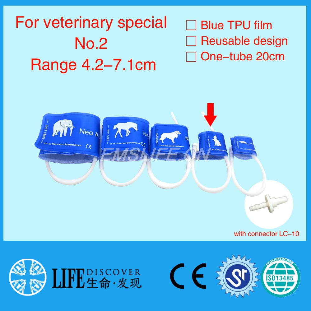Veterinary Special Blood Pressure Cuff Of Patient Monitor For Small Animals With Single Tube No.2 With Connector LC-10