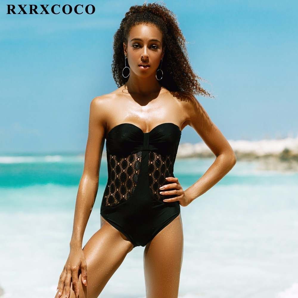 RXRXCOCO One Piece Swimwear Push Up Swimsuits Women 2017 Sexy Beach Hallow Cut Monokini Bodysuit Retro Bathing Suit Swim Wear plus size swimwear one piece swimsuits sexy women push up padded bikinis floral beach bathing suits push up swim wear monokini