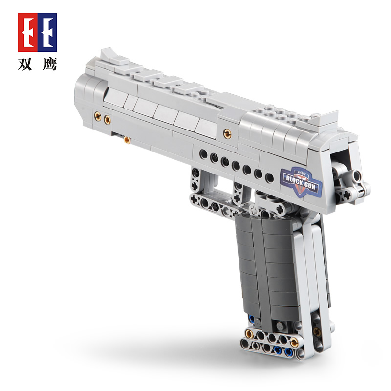 Desert Eagle Assembly Toy Technic Building Model Block Brick fit for Legos Kids Outdoor Game Fire Bullets PUBG toy gun boy gift