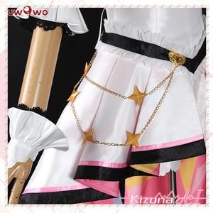 Image 5 - UWOWO Kizuna AI Cosplay Costume AI canal Youtube femmes mignon robe rose noël carnaval Costume