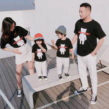 bear t shirt family matching outfits look mommy and me clothes mother daughter dad son tshirts mom mum summer dress clothing