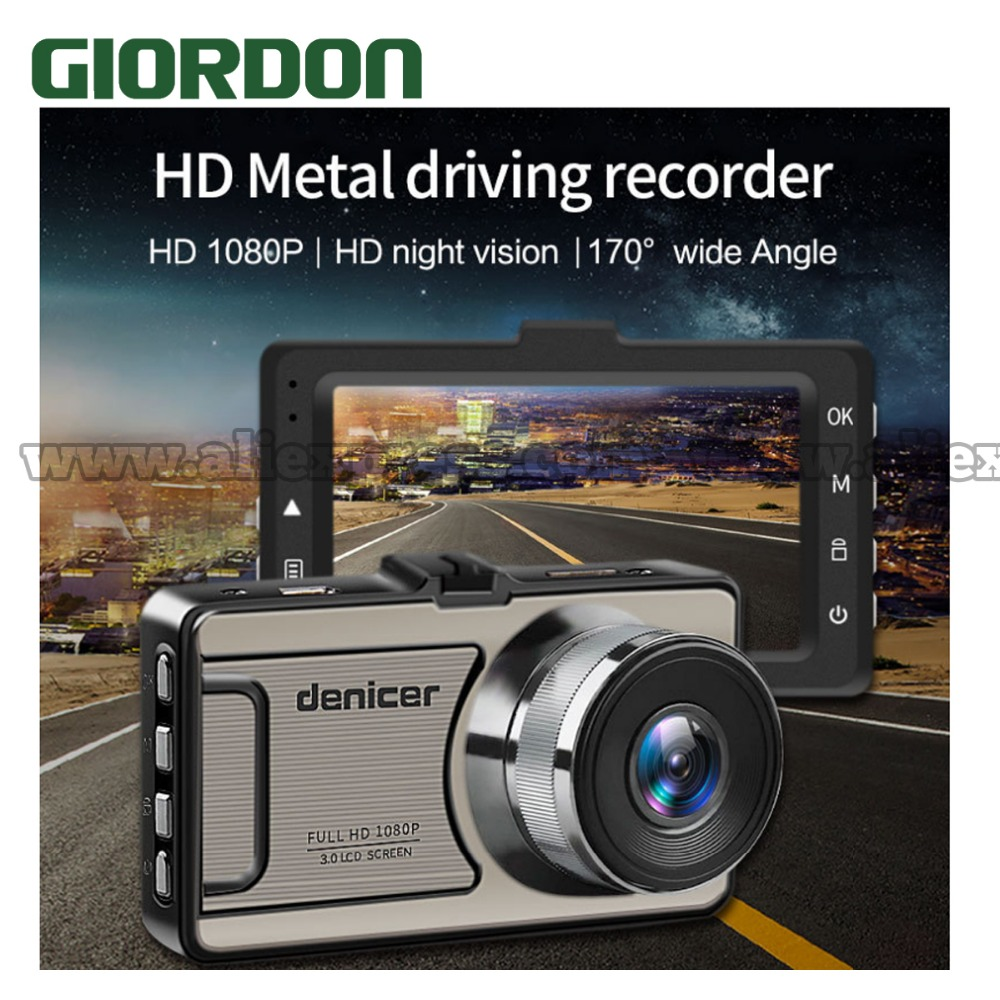 Car Dash Camera Vehicle Cam Full HD 1080P DVR 170 degree wide Angle in Car Video Recorder Dashboard Camera With Night Vision