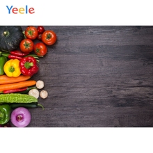 Yeele Vegetables Black Planks Wooden Board Product Show Food Photography Backgrounds Photographic Backdrops For Photo Studio