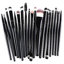 Makeup Brushes 20 Pcs 12 Colors Professional Soft Cosmetics Beauty Make up Brushes Set Kabuki Kit Tools maquiagem Makeup Brushes