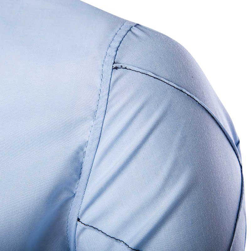 2019 新メンズドレスシャツファッション長袖ストライプシャツメンズスリムフィットカジュアル服カミーサソーシャル Masculina M-XXXL CS14 2
