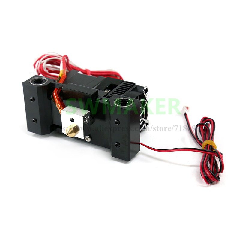 new A6 carriage extruder kit single jet extruder print head 1.75mm for Anet A6 3D printer parts brand new inkjet printer spare parts konica 512 head board carriage board for sale