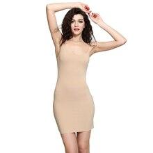 Women's Silky Full Slips Sexy Seamless Nightwear Free Cut Tiny Straps Leisure Wear Ladies Essential Slips