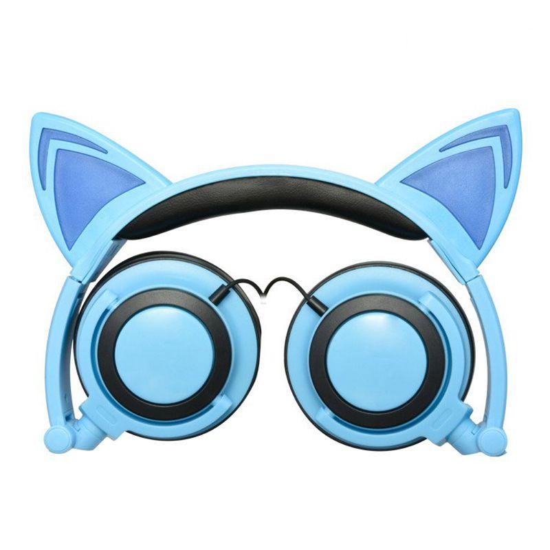 Faltbares Katzenohr Bluetooth On Ear Ohrhörer Headset Kopfhörer Stereo Mikrofon