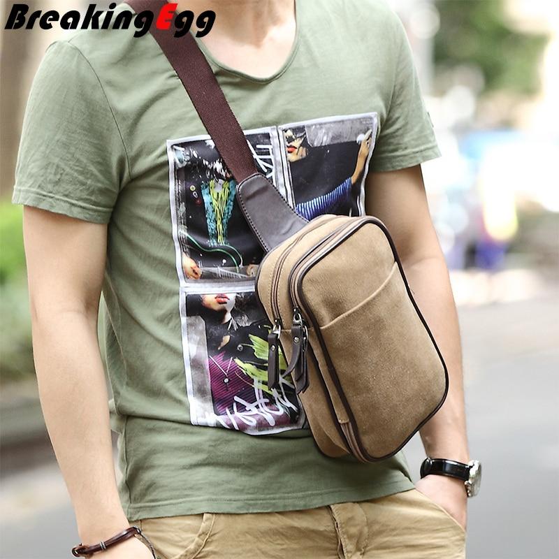 Aliexpress.com : Buy Canvas men chest pack camera sling bag bolsa ...