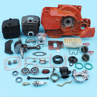 Nikasil Cylinder Crankcase Muffler Crankshaft Kit For Husqvarna 362 365 371 372 Chainsaw Repair Kit 50mm Big Bore